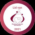 Logo lid van Vlaamse Federatie van Doula's